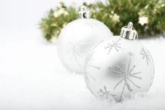 中看不中用的物品圣诞节银 免版税库存照片
