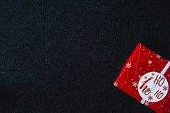中看不中用的物品蓝色圣诞节构成玻璃 E 平的位置,顶视图,拷贝空间 库存图片