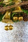 中看不中用的物品蓝色圣诞节构成玻璃 免版税库存图片