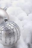 中看不中用的物品银色雪 免版税库存照片