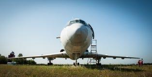 中程图-154巨型的苏联的喷气式客机 库存照片