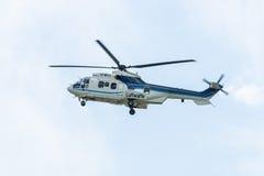 """中等公共直升机欧洲直升机公司AS532U2 """"Cougar"""" 免版税库存图片"""