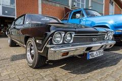 中等大小汽车薛佛列Chevelle SS396 Hardtop Coupe, 1966年 免版税库存照片