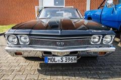 中等大小汽车薛佛列Chevelle SS396 Hardtop Coupe, 1966年 库存图片