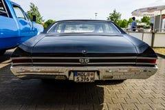 中等大小汽车薛佛列Chevelle SS396 Hardtop Coupe, 1966年 图库摄影