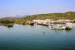 中美洲,巴拿马运河,巴拿马运河海岸 库存照片