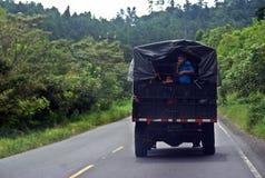 中美洲路-不安全的旅行 免版税库存照片