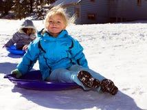 中西部冬天极端寒冷和雪 免版税库存图片