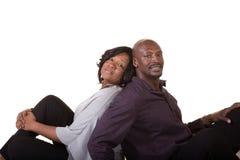 中部年迈的夫妇的画象 免版税库存照片