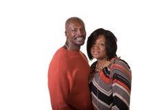 中部年迈的夫妇身分关闭 免版税库存图片