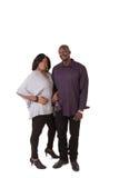 中部年迈的夫妇身分关闭 免版税库存照片