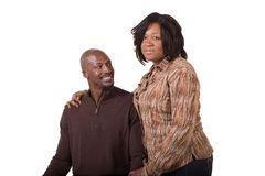 中部年迈的夫妇身分关闭 库存图片