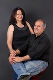 中部年迈的夫妇 库存图片