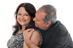 中部年迈的夫妇 免版税库存图片