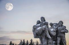 中间秋天节日和受难者雕象 免版税库存照片