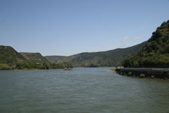 中间莱茵河较大谷 库存照片