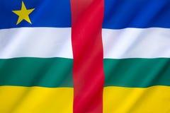 中非共和国的旗子 免版税库存图片