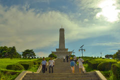 中韩友谊塔在平壤市,北朝鲜的首都 免版税图库摄影