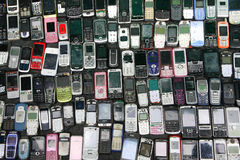 中间人特点备件的手机销售 免版税库存照片