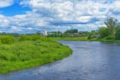 中间俄国小条的风景 免版税库存图片