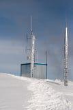 中继器是在山顶部 库存照片