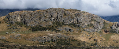 中间地球,新西兰岩石特写镜头  图库摄影
