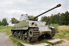 中间坦克军队美国M4谢尔曼 库存图片