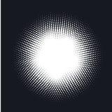 中间影调加点了传染媒介抽象背景,在圈子形状的光点图形 向量例证
