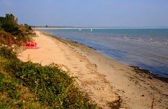 中间海滩Studland多西特英国英国位于在Swanage之间和Poole和伯恩茅斯 免版税库存照片