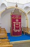 中间犹太教堂的平底船 库存图片
