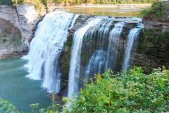 中间秋天, Letchworth国家公园 免版税库存照片