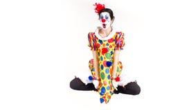 中间航空的小丑 图库摄影