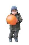 中间航空的男孩 图库摄影