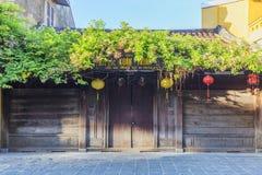 中间年节日,房子在会安市老镇 免版税图库摄影