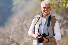 中间年龄摄影师 免版税图库摄影
