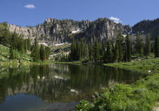 中间Bloomington湖 免版税库存图片