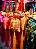 丰富的收集中国人纪念品 免版税库存照片