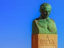 丰德托多斯Goya雕象 库存图片