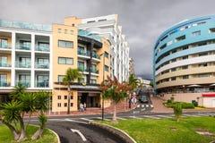 丰沙尔市的建筑学,马德拉岛海岛,葡萄牙 库存图片