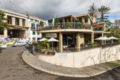 丰沙尔市的建筑学,马德拉岛海岛,葡萄牙 免版税库存照片