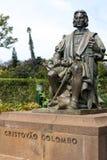 丰沙尔, MADEIRA/PORTUGAL - 4月13日:Christovao科洛火山雕象  免版税库存图片