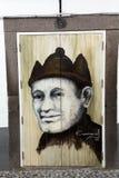 丰沙尔-艺术门户开放主义在圣玛丽亚街道  瞄准对`开放`城市对艺术性和文化前夕的项目 库存图片