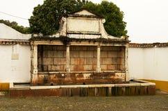 丰泰重创的大喷泉在维拉Vicosa 免版税图库摄影