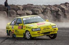 丰田卡罗拉Rallycar 免版税库存图片