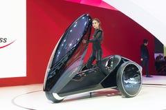 丰田在显示的概念汽车 免版税库存图片