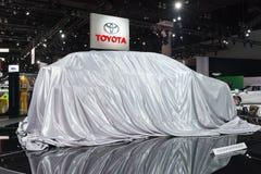 丰田在显示的首演汽车 免版税库存图片