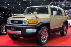 丰田由BRG的汽车进口在2013年12月3日的第30泰国国际马达商展在曼谷,泰国 免版税库存照片