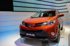 从丰田的RAV4, 2014个CDMS 免版税库存照片