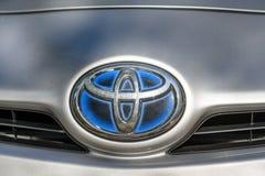 丰田Prius商标 免版税库存图片