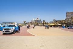 丰足散步德班海湾  库存照片